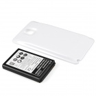 Rechargeable Battery + Back Case for Samsung Galaxy Note 3. N9000, N9005, N900A, N900, N9002 - White