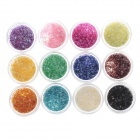 DIY 12-in-1 Nail Art Decoration Fragment Set - Multicolored
