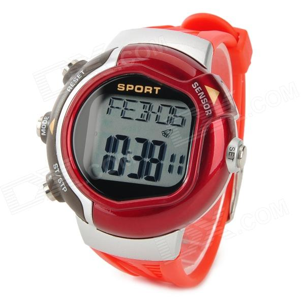 Sport ABS Case Rubber Band Heart Rate / Calory Measuring Digital Wrist Watch - Red (1 x CR2032) 3 pcs set girls baby clothing sets sleeveless shirt tops floral pants headband vogue clothes 2 6 year hot selling
