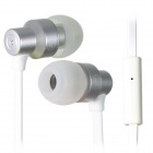 UMI Hi-300 Original Wire Hi-Fi Super Bass Stereo In-Ear Earphones w/ Microphone - White + Silver