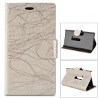 Flower Show Protective PU Case w/ Stand for Nokia N920 - Silver