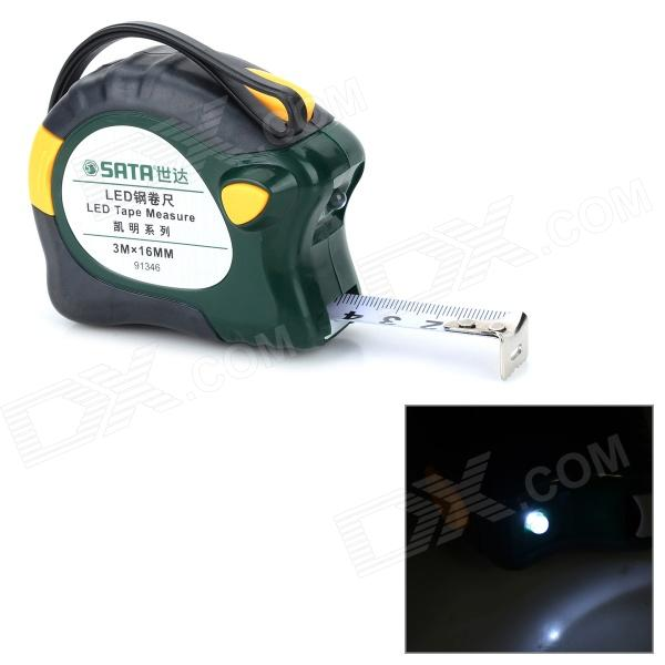 цены на SATA 91346 3-Meter Engineering Pocket Measuring Tape w/ LED Light - Green в интернет-магазинах