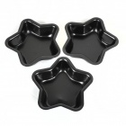 Stars Bread Pudding Cake Non Stick Mold - Black (3 PCS)