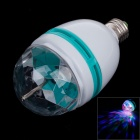 ZIYU ZY-0810-031 E27 6W 350lm 600K 2-LED Light Full Color Rotating Lamp - White + Green (AC180-240V)
