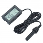 TL8015A 1.5'' LCD Mini Digital Hygro-Thermometer / Wired Temperature & Humidity Gauge - Black