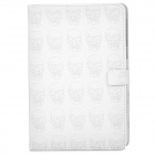 Protective Skull Pattern PU Leather Case for iPad Mni - White