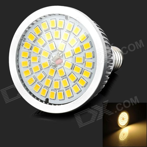 Lexing LX-SD-016 E14 6.5W 600lm 3500K 48-SMD 2835 LED Warm White Light Spotlignt - Silver + Yellow