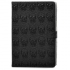 Protective Skull Pattern PU Leather for Ipad MINI - Black