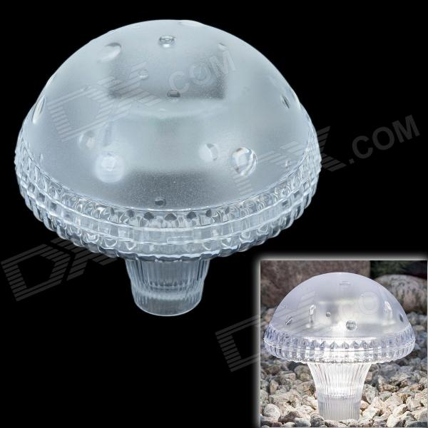LEH-41587W 1LED White Light Solar Garden Light/ Landscape Light/ Mushroom Light - White