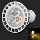 WindFire GU10 6W 1 x 70lm + 3 x 210lm 3-LED Warm White Light Spotlight - Silver + White (85~265V)