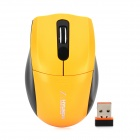 HYUNDAI HY-MS1302 2.4GHz USB 2.0 Wireless 1000dpi Optical Mouse - Yellow + Black