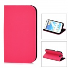 GTcoupe S-021 Protective PU Leather Case for Samsung Galaxy Note 2 - Deep Pink