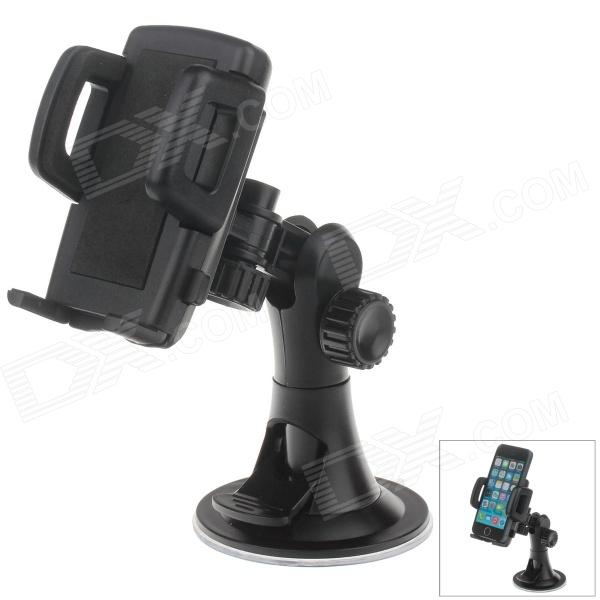 H08 Car Suction Cup Mount Holder + C47 4.3 / 5 Back Clip for Cell Phones / MP5 / GPS - Black c47 4 3 5 universal car mount holder for cell phones mp5 gps 3 6 8cm