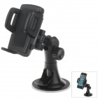 "H08 Car Suction Cup Mount Holder + C47 4.3"" / 5"" Back Clip for Cell Phones / MP5 / GPS - Black"