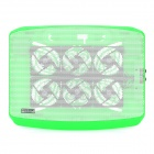 Popu.pine N100 Dual USB Quiet 6-Fan Cooling Pad for Laptops - Green