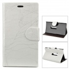 Flower Show Protective PU Case w/ Stand for Nokia N920 - White