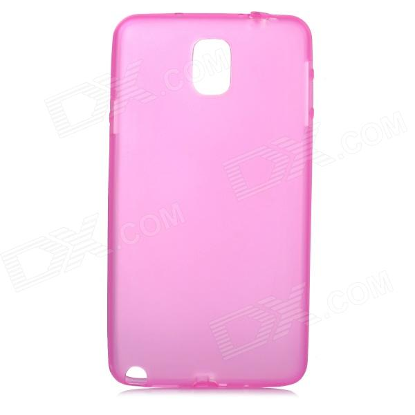Фото Protective Matte PC Hard Back Case for Samsung Galaxy Note 3 - Translucent Deep Pink 0 4mm ultrathin protective plastic back case for samsung galaxy note 2 n7100 translucent deep pink