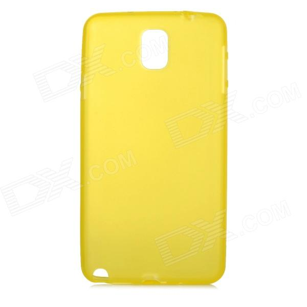 Protective Matte PC Hard Back Case for Samsung Galaxy Note 3 - Translucent Yellow ultrathin 0 3mm protective pc back case for samsung galaxy note 3 n9000 translucent white