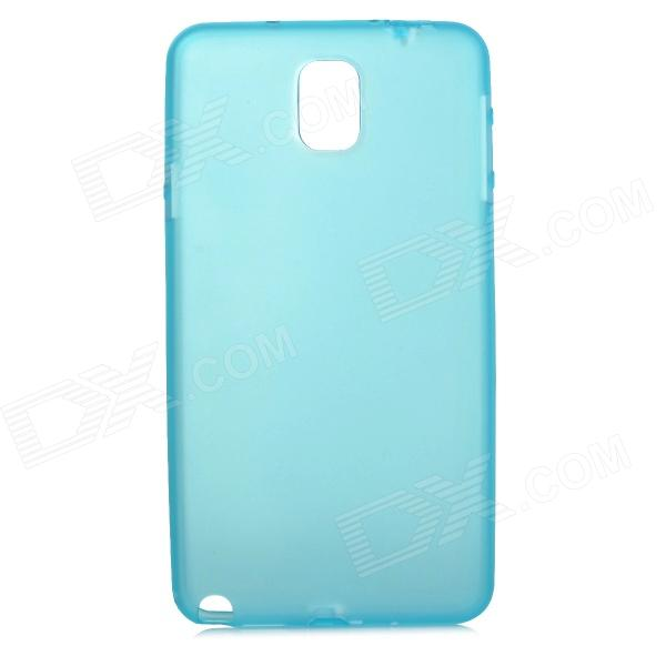 Protective Matte PC Hard Back Case for Samsung Galaxy Note 3 - Translucent Blue enkay protective tpu back case w holder stand for samsung galaxy note 3 n9000 pink