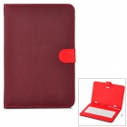 "Micro USB 83-Keyboard w/ Checked Style Protective PU Leather Case for 9"" Tablet PC - Red + Black"