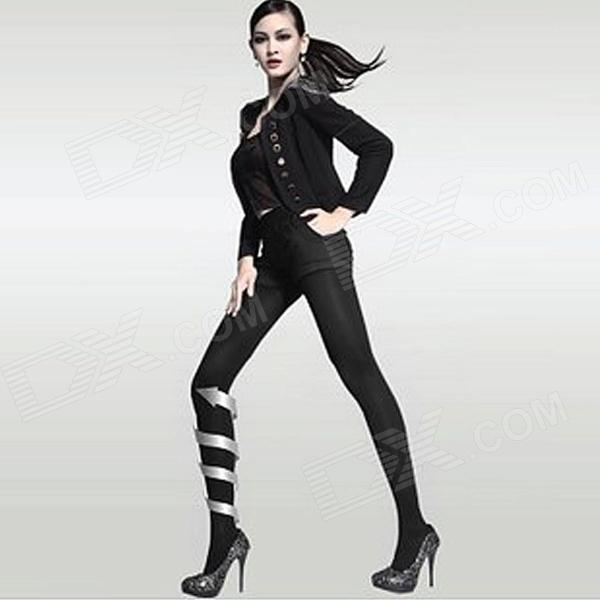 Ayane 5800D Nylon + Spandex + Cotton Tightness Beautifying Leggings for Women - Black (Free Size)