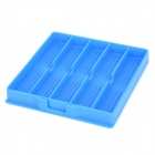 Five-Gird Silicone Stationery Box - Blue