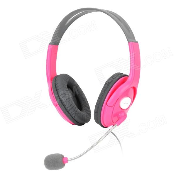 XBOXHS19 2.5mm Headset Headphone for XBOX 360 - Deep Pink + Grey