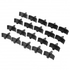 Universal Car Door Panel Plastic Snap Push Pins / Fasteners / Clips - Black (20 PCS)
