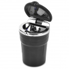 Ash Can Style Plastic Car Ashtray w/ LED - Black (1 x CR2012)