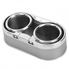 PS-5006 Plastic Sticky Car Duan-Cup Drink Holder - Silver