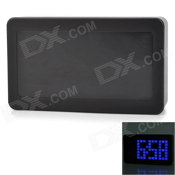 6033 5.7 Screen Voice Control Blue Backlight LED Alarm Clock - Black ey products e my creative wood table clock khaki 1 x aa