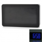 "6033 5.7"" Screen Voice Control Blue Backlight LED Alarm Clock - Black"