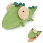 Cute Cartoon Little Crocodile Short Plush + Activated Carbon Smell Removing Toy Bag - Green