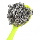 A071 Cute Shy Person Style ABS + Stainless Steel Kitchen Dish Washing / Cleaning Brush - Green