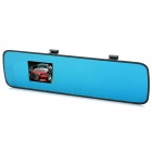 "ETu F600S 2.7"" TFT 5.0MP 1080P Wide Angle Car Rearview Night Vision Anti-Glare Blue Mirror DVR"