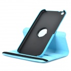 Lychee Grain Style Protective 360 Degree Rotation PU Leather Case for Samsung Tab 3 T310 - Blue