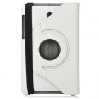 Lychee Grain Style Protective 360 Degree Rotation PU Leather Case for Asus 173 - White