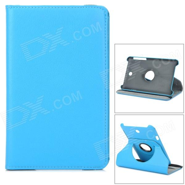 Lychee Grain Style Protective 360 Degree Rotation PU Leather Case for Asus 173 - Blue levett caesar prostate massager for 360 degree rotation g spot