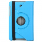 Lychee Grain Style Protective 360 Degree Rotation PU Leather Case for Asus 173 - Blue