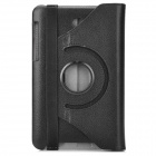 Lychee Grain Style Protective 360 Degree Rotation PU Leather Case for Asus 173 - Black