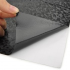 Diamond Pattern 3D Carbon Fiber Paper Decorative Sheet Car Sticker - Black