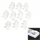 013 ABS 2-Flat-Pin Plug Child Guard Socket Outlet Protective Cap Cover - White (10PCS)
