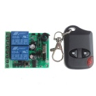 VGG07 2-CH Multi-Functional Wireless Remote Switch w/ Remote Controller - Green + Blue