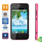 "ET101 Android 4.2 WCDMA Dual-Core Bar Phone w / 4,0 ""-Bildschirm, Wi-Fi, GPS und Dual-SIM - Deep Pink"