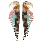 Parrot Style Rhinestone Zinc Alloy Earrings - Multicolored (Pair)