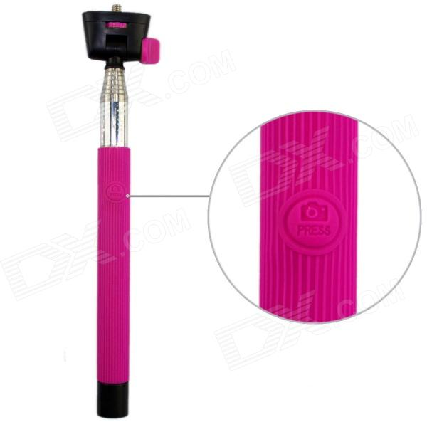 Z07-5 Wireless Bluetooth Mobile Phone Monopod for Android 3.0 and Above System - Deep Pink malata a18 1 3 super long standby mini mobile phone deep gray