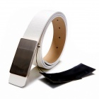 Fashionable PU leather Waist Belt w/ Zinc Alloy buckle - White
