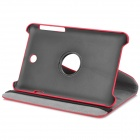 Lychee Grain Style Protective 360 Degree Rotation PU Leather Case for Asus 173 - Red