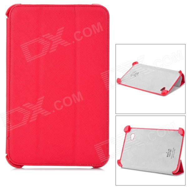 Stylish Protective PU Leather Case for Samsung P3100 - Red azns protective pu leather case for samsung i8552 red