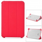 Stylish Protective PU Leather Case for Samsung P3100 - Red